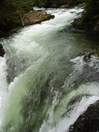 Skykomish, WA: down stream from the falls