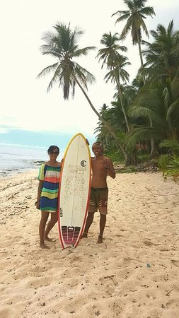 Bamboo Garden Bar and Lodging: Surf instructor at Bamboo