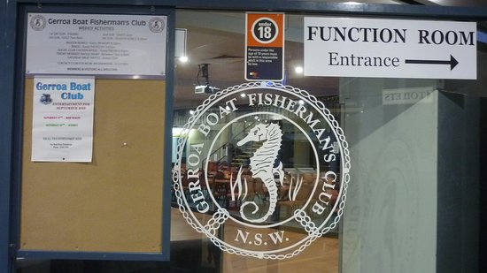 The Entrance Door Signage of the Gerroa Boat Fisherman's Club