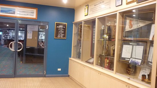 Gerroa, Australia: The Club House Cabinet with trophies and displays