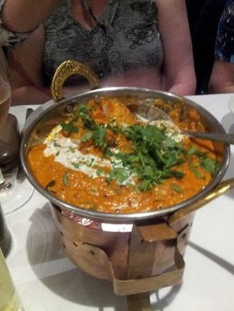 Farnborough, UK : Beautiful authentic dishes kept individually hot over a burner. Great selection and heat strengt