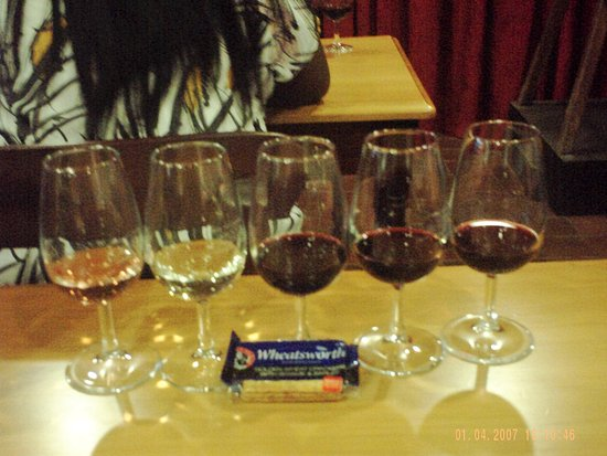 Constantia, África do Sul: Wine tasting glasses.