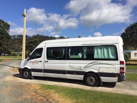 Warkworth, Nova Zelândia: our camper