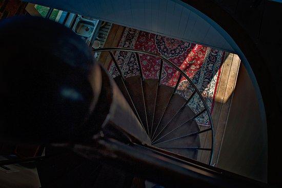 Haenertsburg, Sydafrika: The Stables, spiral staircase.