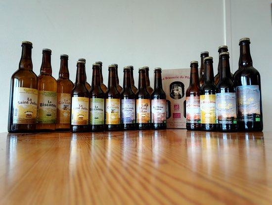 Saint-Julien-Molin-Molette, France: Une gamme de 8 bières fabriquées toute l'année et 3 bières de saisons
