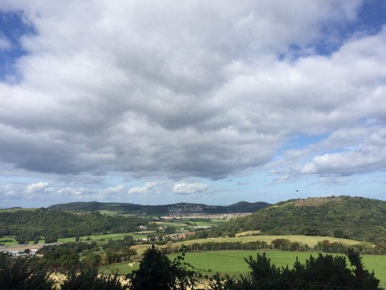 Colwyn Bay, UK: The Countryside View from the Welsh Mountain Zoo