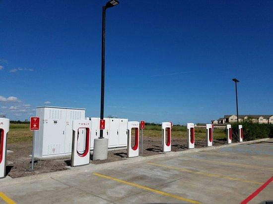 Tesla supercharging station @ Holiday Inn Express & Suites Kingsville only supercharging station