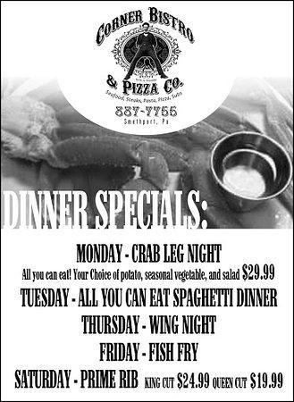 Smethport, Pensylwania: Corner Bistro & Pizza Co