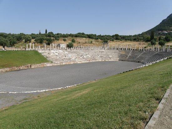 Messini, Grecia: σταδιο αρχαιας Μεσσηνης