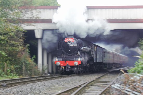Flying Scotsman leaving Bury Station