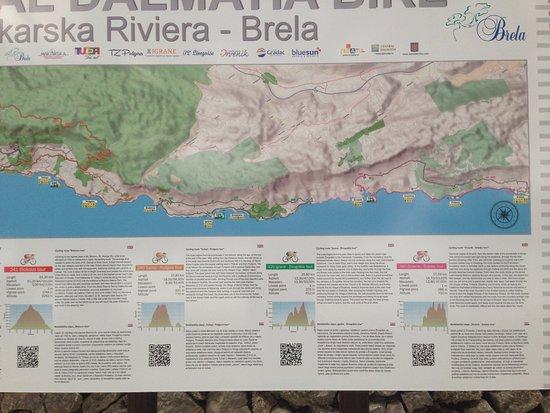 Makarska, Chorwacja: Rad und Wanderkarte