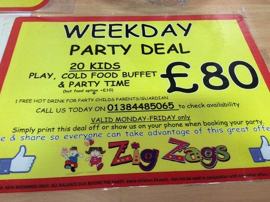 Brierley Hill, UK: Great party prices. Xxxxxx