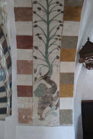 Jyderup, Danimarka: arch fresco