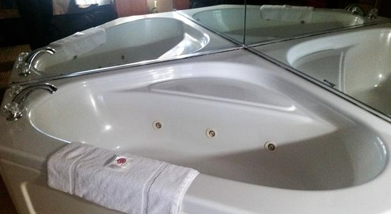 Comfort Inn Kalamazoo: Two person whirlpool tub