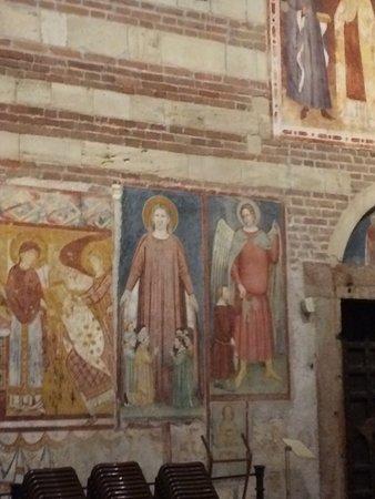 Basilica di San Zeno Maggiore: Wall detail in the Basilica.