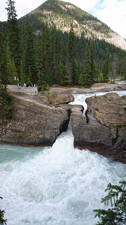 Field, Canada: 一番の見せ場の滝、結構迫力ある