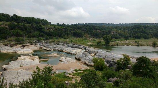 จอห์นสันซิตี, เท็กซัส: Lower half of falls area.