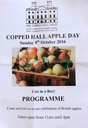 Epping, UK: Programme of the 2016 Apple Day