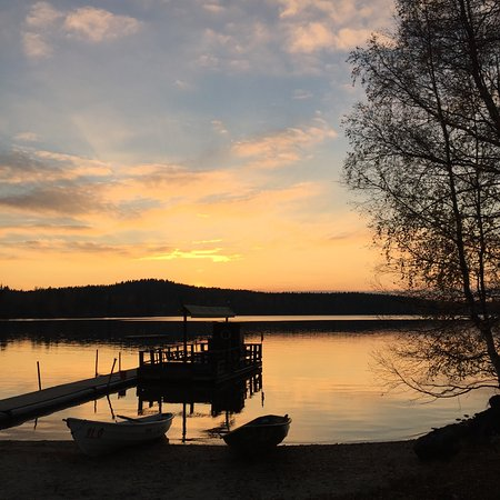 Hauho, Finland: Sunset in Iloranta, October 2016