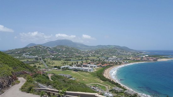 Basseterre, St. Kitts: Sunny Blue Rentals and a pic from the SE peninsula