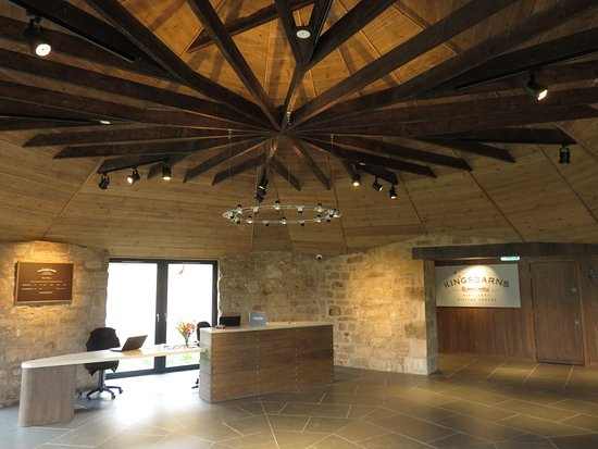 Kingsbarns, UK: Entry, the renovated circular grist mill.