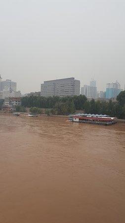Lanzhou, China: 中山橋觀黃河(2)