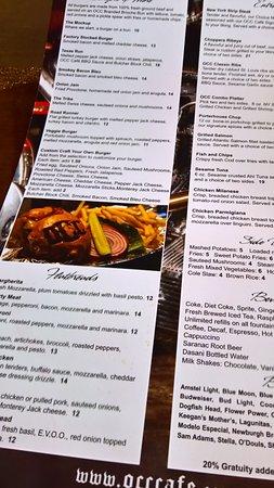 Speisekarte (Ausschnitt) - Picture of Orange County Chopper Cafe