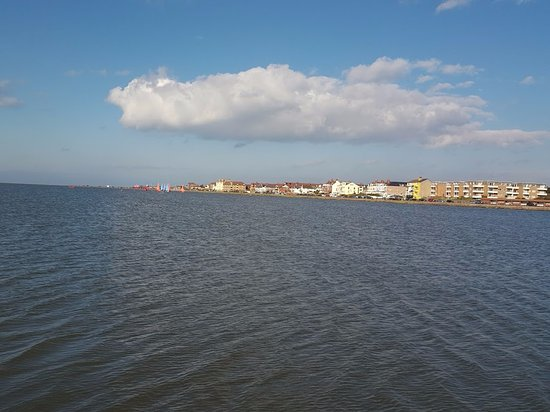 Wirral, UK: View of West Kirby from causway