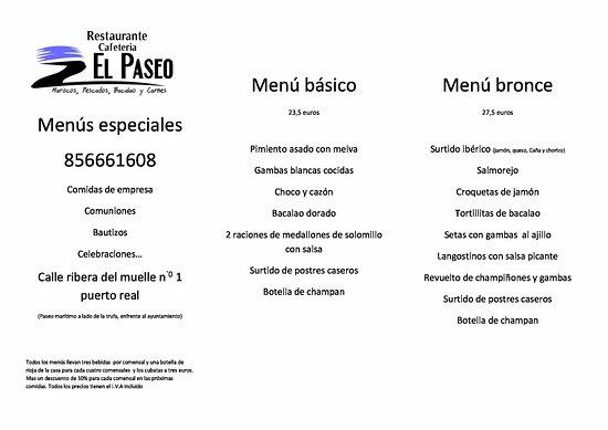 Puerto Real, Spanyol: menús especiales celebraciones