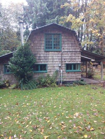 Courtenay, كندا: Applewood Cottage - woodburner