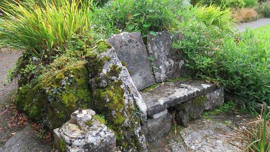 Newmarket-on-Fergus, Ireland: walled garden: stone seating