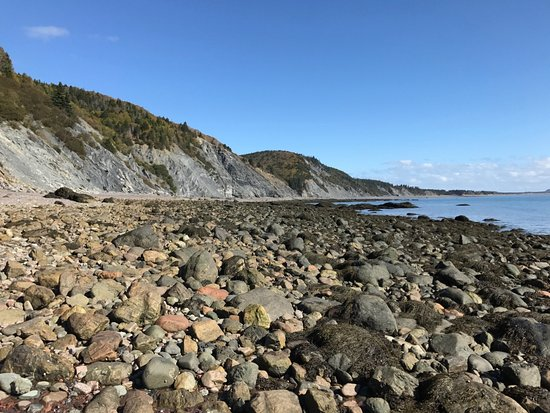 Advocate Harbour, Canada: View from the end of the beach