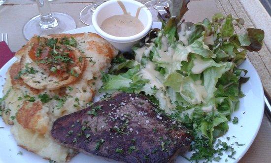 Les Templiers: viande de Salers excellente!