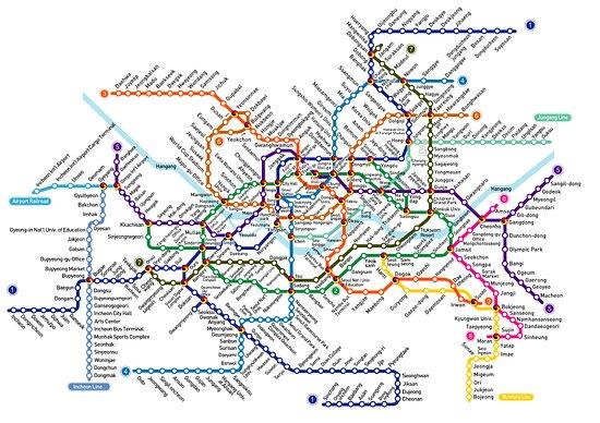карта метро Picture of Seoul Metro Seoul TripAdvisor