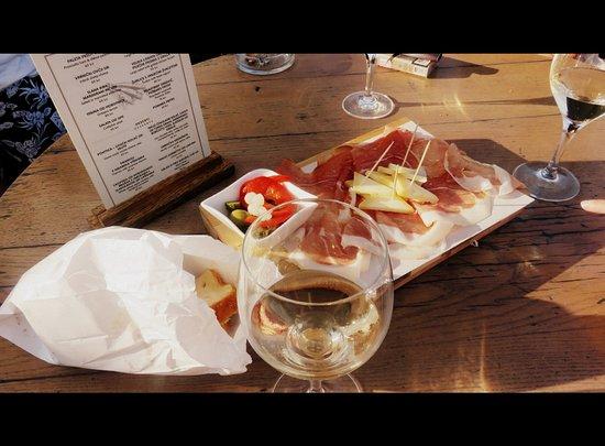 Restaurant Nada : žlahtina e un tagliere di salumi e formaggi