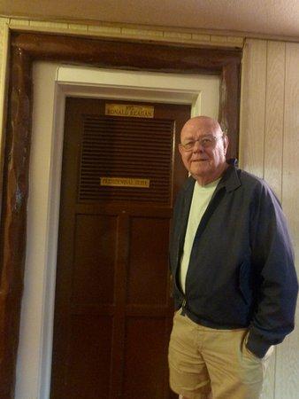 El Rancho Hotel & Motel: At the front door of Room 103