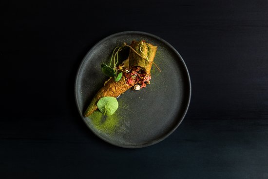 Destroyer: raw beef | parsnip | smoked egg cream