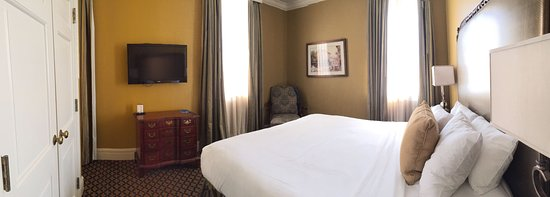 The Lafayette Hotel: Closet on left - king size bed