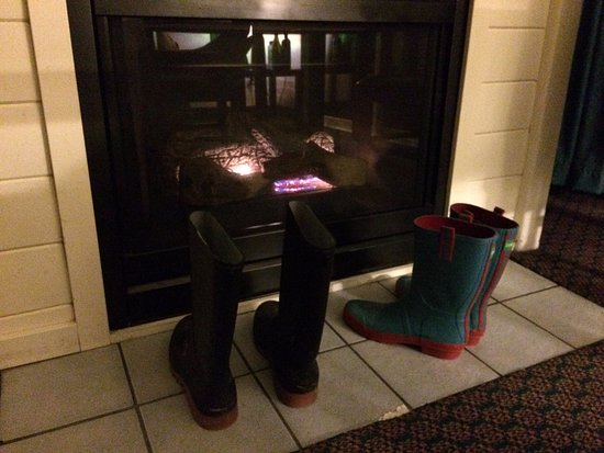 Manzanita, OR: The not so roaring fireplace in our room