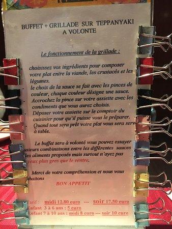 Chaufour-les-Bonnieres, Frankrijk: Buffet