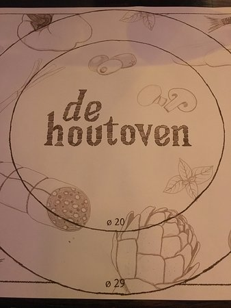 De Houtoven: To show the pizza sizes - handy!
