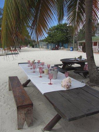 Bayahíbe, República Dominicana: Table dressée par Cathy