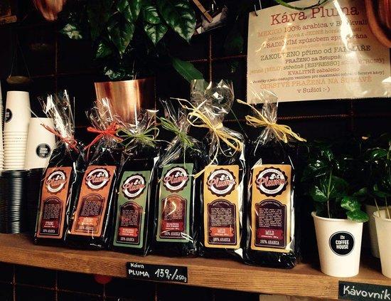 Susice, Çek Cumhuriyeti: Káva na prodej z místní pražírny