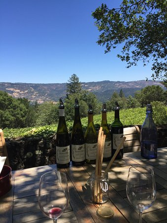 Stony Hill Vineyard: Wine tasting at Stoney Hill overlooking the Napa Valley