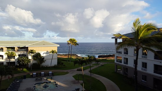The Point at Poipu: Partial ocean view, bldg. 2. Not bad