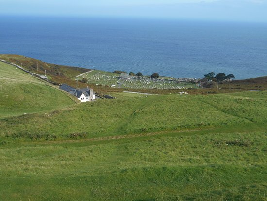 Great Orme: View of the churchyard below