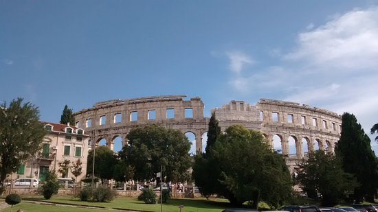 The Arena in Pula: Arena in Pula on a sunny afternoon in September 2016