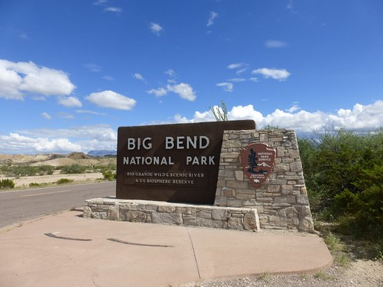Alpine, TX: Entering the park just before Maverick Junction