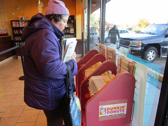 Cranston, RI: That is me buying The Providence Journal.