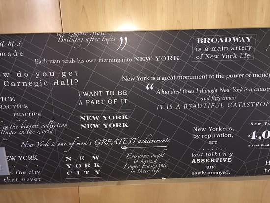 This is the headboard on the beds it has quotes about NYC
